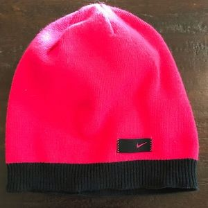NWOT Nike Pink/Black Knit Hat